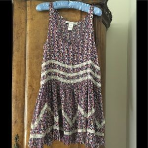 American Rag Floral Dress with Lace